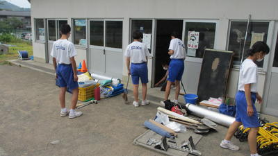 部室掃除1
